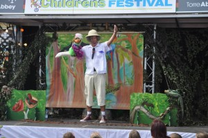 On stage at Children's Week, Paignton